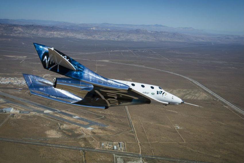 Virgin Galactic Feather flight