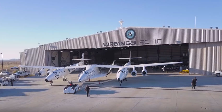 Virgin Galactic WhiteKnightTwo and Unity