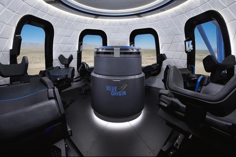 Interior of New Shepard